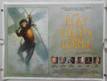 At Play in the Fields of the Lord, Original UK Quad, Tom Berenger, '91